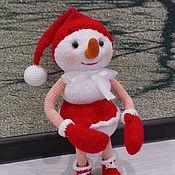 Мягкие игрушки ручной работы. Ярмарка Мастеров - ручная работа Снеговик Снеговушка Морозовна. Handmade.