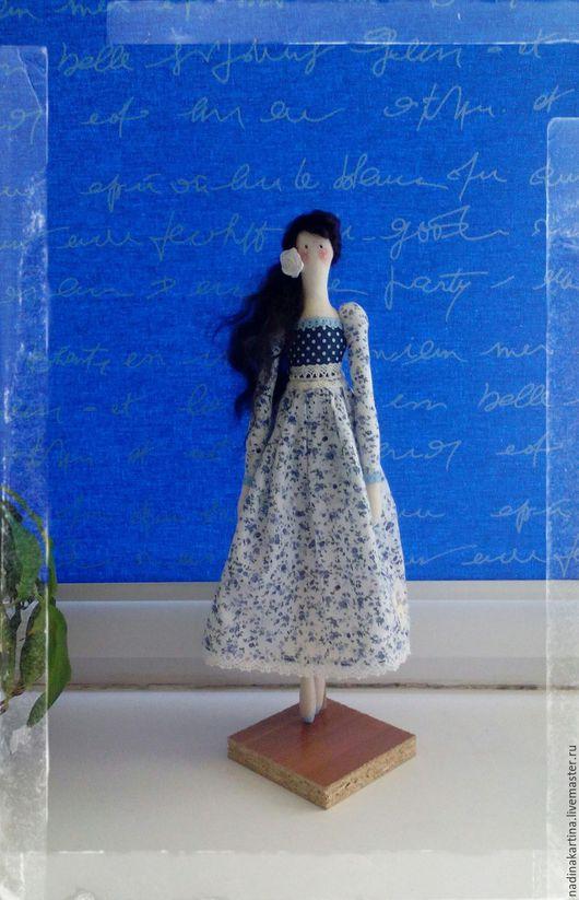 Куклы Тильды ручной работы. Ярмарка Мастеров - ручная работа. Купить Весенняя Тильда. Handmade. Синий, кукла интерьерная