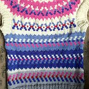 Одежда handmade. Livemaster - original item Knitted vest lopapeysa cashmere pink gray. Handmade.