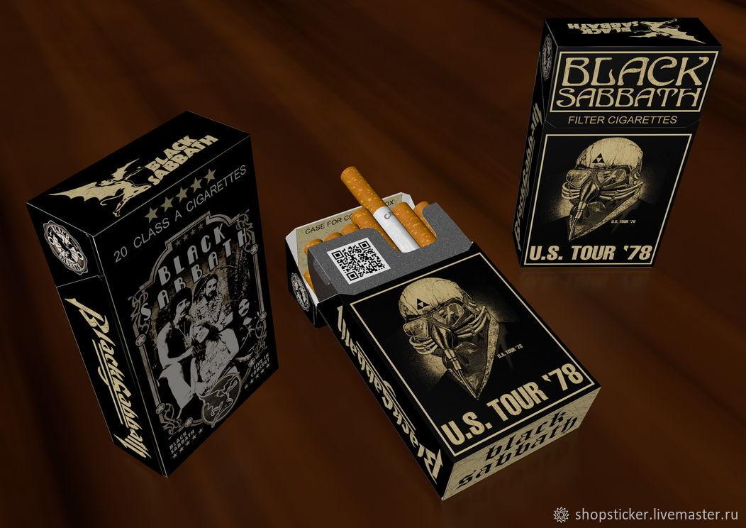 Чехол для пачек сигарет - Black Sabbath, Портсигары, Санкт-Петербург,  Фото №1