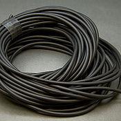 Шнуры ручной работы. Ярмарка Мастеров - ручная работа Шнур каучуковый черный, толщина 2,5 мм. Handmade.