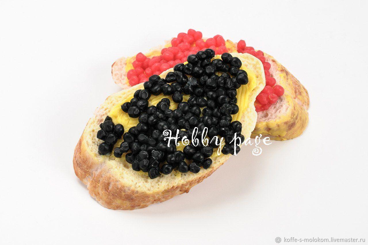 Силиконовая форма для мыла Бутерброд с икрой на белом хлебе, Формы, Москва,  Фото №1