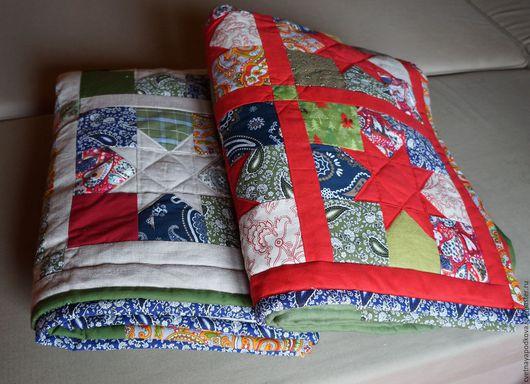 Текстиль, ковры ручной работы. Ярмарка Мастеров - ручная работа. Купить Рождество (льняные звёзды). Handmade. Лоскутное одеяло, лён