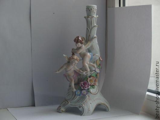"""Винтажные предметы интерьера. Ярмарка Мастеров - ручная работа. Купить Фигурка статуэтка подсвечник """"Два ангела"""" von Schierholz. Handmade."""