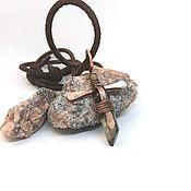 Украшения handmade. Livemaster - original item Sword-cross pendant with rauchtopaz crystal. Handmade.