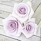 Заколки ручной работы. Набор шпилек с розами - Сиреневые (4 шт). Tanya Flower. Ярмарка Мастеров. Украшение в волосы