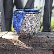 Посуда ручной работы. Ярмарка Мастеров - ручная работа Чайные стаканчики кракле. Handmade.