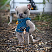 Teddy Toys handmade. Livemaster - original item Mouse Jules. Handmade.