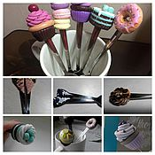 Посуда ручной работы. Ярмарка Мастеров - ручная работа Десертные ложечки. Handmade.