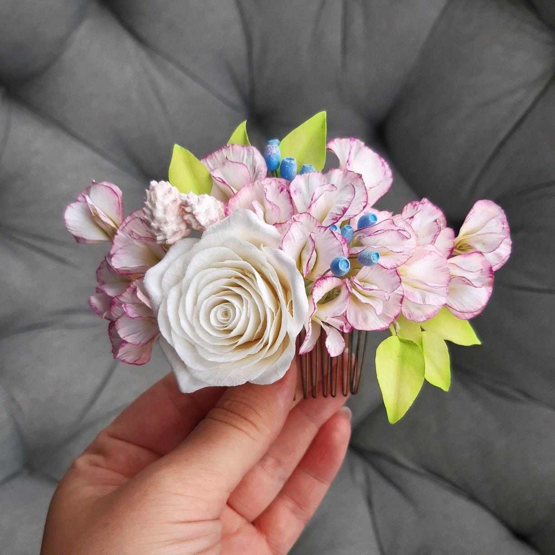 Гребень с цветами, Украшения в прическу, Москва,  Фото №1