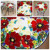 столик для чайных церемоний Маковое поле