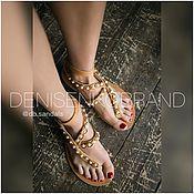 Обувь ручной работы handmade. Livemaster - original item Magic sandals with pearl