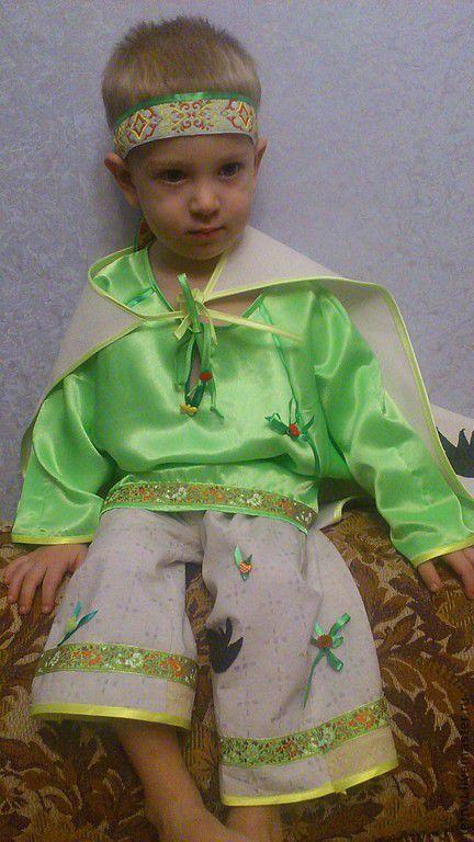 """Детские танцевальные костюмы ручной работы. Ярмарка Мастеров - ручная работа. Купить Месяц """"Май"""". Handmade. Ярко-зелёный"""