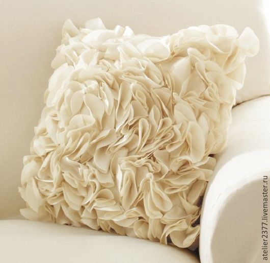 """Текстиль, ковры ручной работы. Ярмарка Мастеров - ручная работа. Купить Декоративная подушка """"Взбитые сливки"""". Handmade. Белый"""