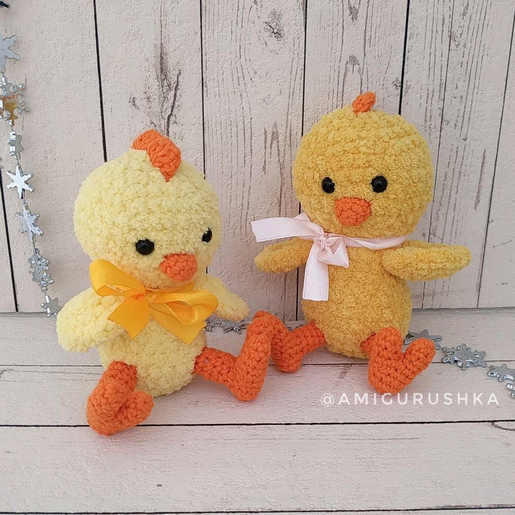 Easter crochet chicken amigurumi, Amigurumi dolls and toys, Saki,  Фото №1