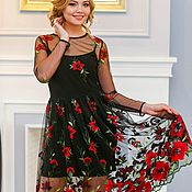 Платья ручной работы. Ярмарка Мастеров - ручная работа Платье с вышивкой Наоми, арт. 5644. Handmade.