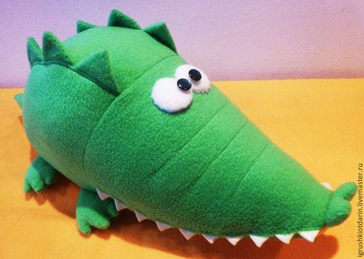 Игрушки животные, ручной работы. Ярмарка Мастеров - ручная работа. Купить Весенний крокодил Мартин. Handmade. Ярко-зелёный, веселый
