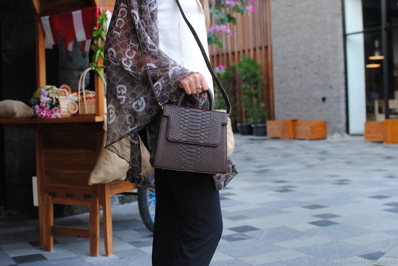 Сумочка из кожи питона Chocolate, Женские сумки, Москва, Фото №1