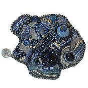 Украшения ручной работы. Ярмарка Мастеров - ручная работа Брошь Рыба синяя фриформ. Handmade.