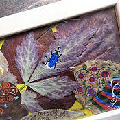 """Для дома и интерьера ручной работы. Ярмарка Мастеров - ручная работа картина """"Воспоминание об осени"""". Handmade."""