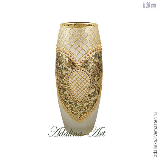 Вазы ручной работы. Ярмарка Мастеров - ручная работа. Купить КРИСТИ GOLD ваза. Handmade. Адалина-арт, adalina, штофы