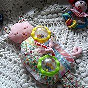 Куклы и игрушки ручной работы. Ярмарка Мастеров - ручная работа Грелка с вишневыми косточками. Лоскутная  Кошечка Ви-ви.. Handmade.