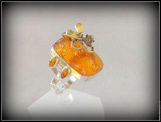 """Кольца ручной работы. Ярмарка Мастеров - ручная работа. Купить Кольцо серебряное """"Пчелка"""". Handmade. Кольцо ручной работы"""