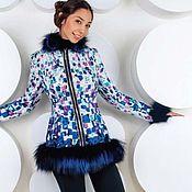 Одежда ручной работы. Ярмарка Мастеров - ручная работа Куртка с мехом лисы чернобурки. Handmade.