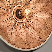 Для дома и интерьера handmade. Livemaster - original item Ceramic lamp with printed pattern Hardware. Handmade.