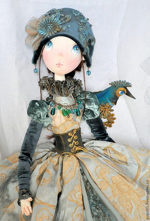 Коллекционные куклы ручной работы. Ярмарка Мастеров - ручная работа. Купить Авторская кукла Франческа. Handmade. Бирюзовый, тафта