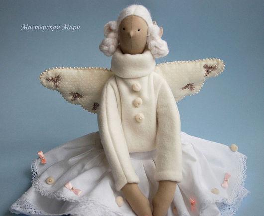 Куклы Тильды ручной работы. Ярмарка Мастеров - ручная работа. Купить Лотти. Ангел с сердечком. Тильда. Handmade. Белый, ангел