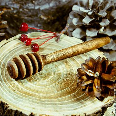 Для дома и интерьера ручной работы. Ярмарка Мастеров - ручная работа Дризл деревянный  Ложечка для мёда из Березы #D3. Handmade.