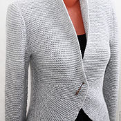 Одежда handmade. Livemaster - original item Knitted jacket with two way Elegant. Handmade.
