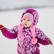 Работы для детей, ручной работы. Ярмарка Мастеров - ручная работа Комбинезон с подстежкой Цветочная поляна (осень/зима). Handmade.
