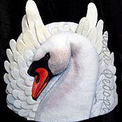 """Подарки к праздникам ручной работы. Ярмарка Мастеров - ручная работа Шапка для бани """"Лебедь"""". Handmade."""