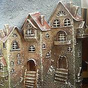 """Картины и панно ручной работы. Ярмарка Мастеров - ручная работа """"Первый снег"""" объемное панно. Handmade."""