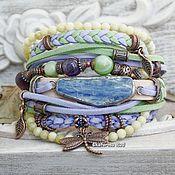 Украшения handmade. Livemaster - original item Boho style bracelet with stones and suede