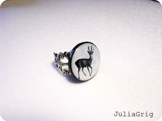 Кольца ручной работы. Ярмарка Мастеров - ручная работа. Купить Lovely Deer, -кольцо ажурное. Handmade. Ажурное кольцо, лес
