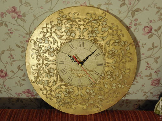 Часы в стиле винтаж `Золотое время` ВРЕМЯ ЛЮБИТЬ
