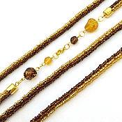 Украшения handmade. Livemaster - original item Lariat beaded amber. Handmade.