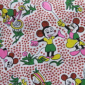 Материалы для творчества ручной работы. Ярмарка Мастеров - ручная работа Американский хлопок Микки Маус. Handmade.