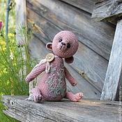 Куклы и игрушки ручной работы. Ярмарка Мастеров - ручная работа Мятный, мишка-саше, вязаный тедди, авторская игрушка, льняной мишка. Handmade.