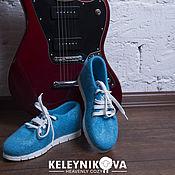 Обувь ручной работы handmade. Livemaster - original item Felted sneakers breeze. Handmade.