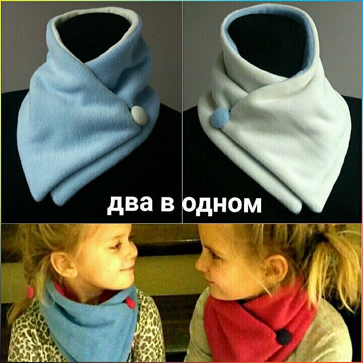 La bufanda-manishka bilateral para los niños y las niñas 'Dos en uno', Scarves and snoods, Moscow,  Фото №1