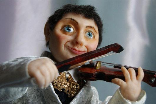 """Коллекционные куклы ручной работы. Ярмарка Мастеров - ручная работа. Купить Кукла """"Вдохновение"""". Handmade. Скрипка, музыкант, симфония, дерево"""