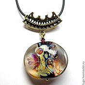 Украшения handmade. Livemaster - original item the Mysteries of the ocean pendant lampwork.. Handmade.