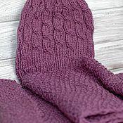 Аксессуары handmade. Livemaster - original item Kit hat snood knitted lilac purple. Handmade.