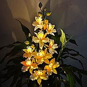 Для дома и интерьера handmade. Livemaster - original item Twig Orchid Night Light. Handmade.