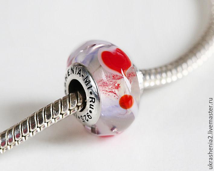 Бусины сердечки для браслетов