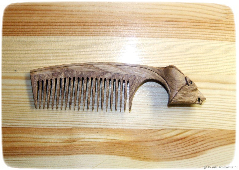 Деревянная расческа для волос ВОЛК, Гребни, Москва,  Фото №1